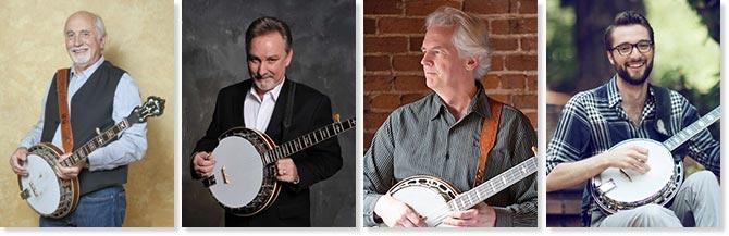 Nashville Banjo Camp Staff -Charlie Cushman, Greg Cahill, Mike Munford, and Wes Corbett