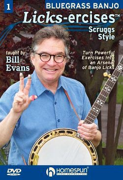 Bill Evans' Licks-Excises for Bluegrass Banjo, DVD 1