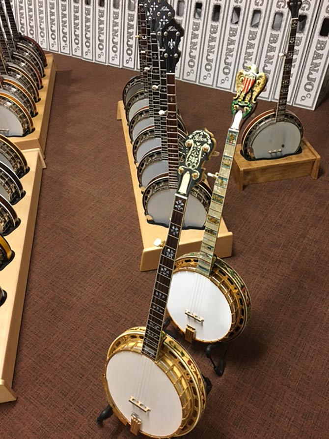 Two high end Gibson banjos