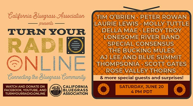 California Bluegrass Association Turn Your Radio On - Virtual Father's Day Festival